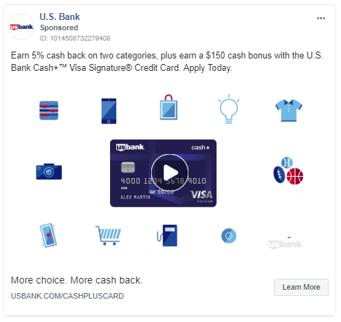 Annuncio con carta di credito