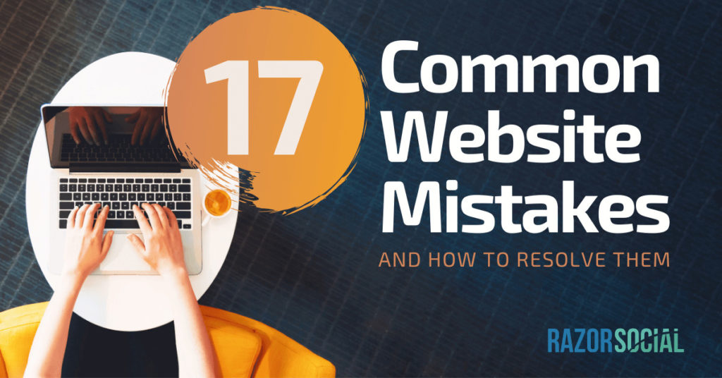 17 errori comuni nel sito Web e come risolverli