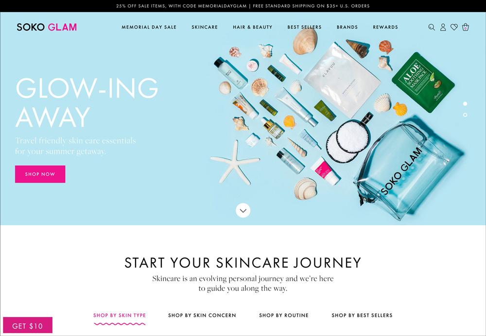 Homepage di Soko Glam