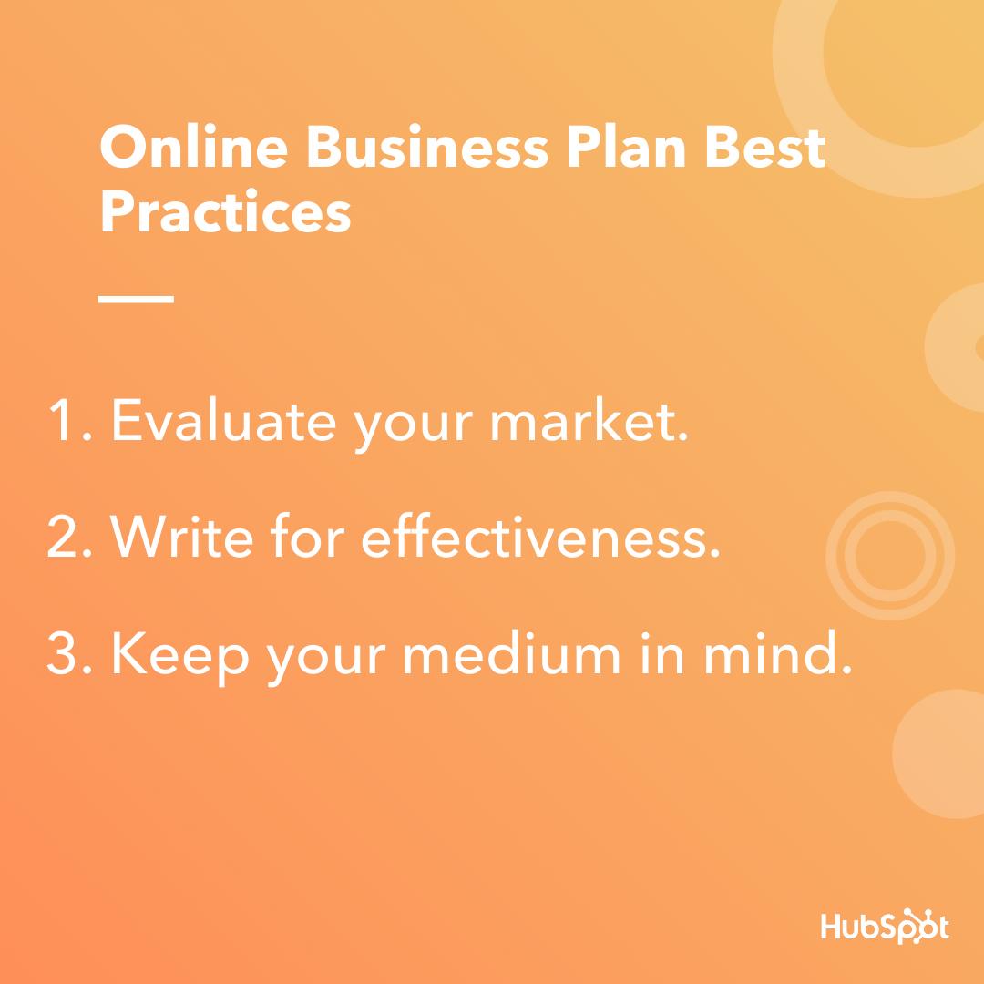Best practice del business plan online