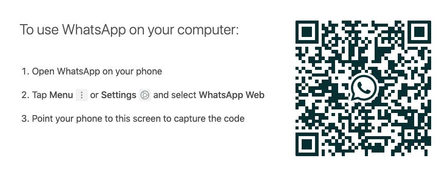 Codice QR per scaricare WhatsApp per desktop.