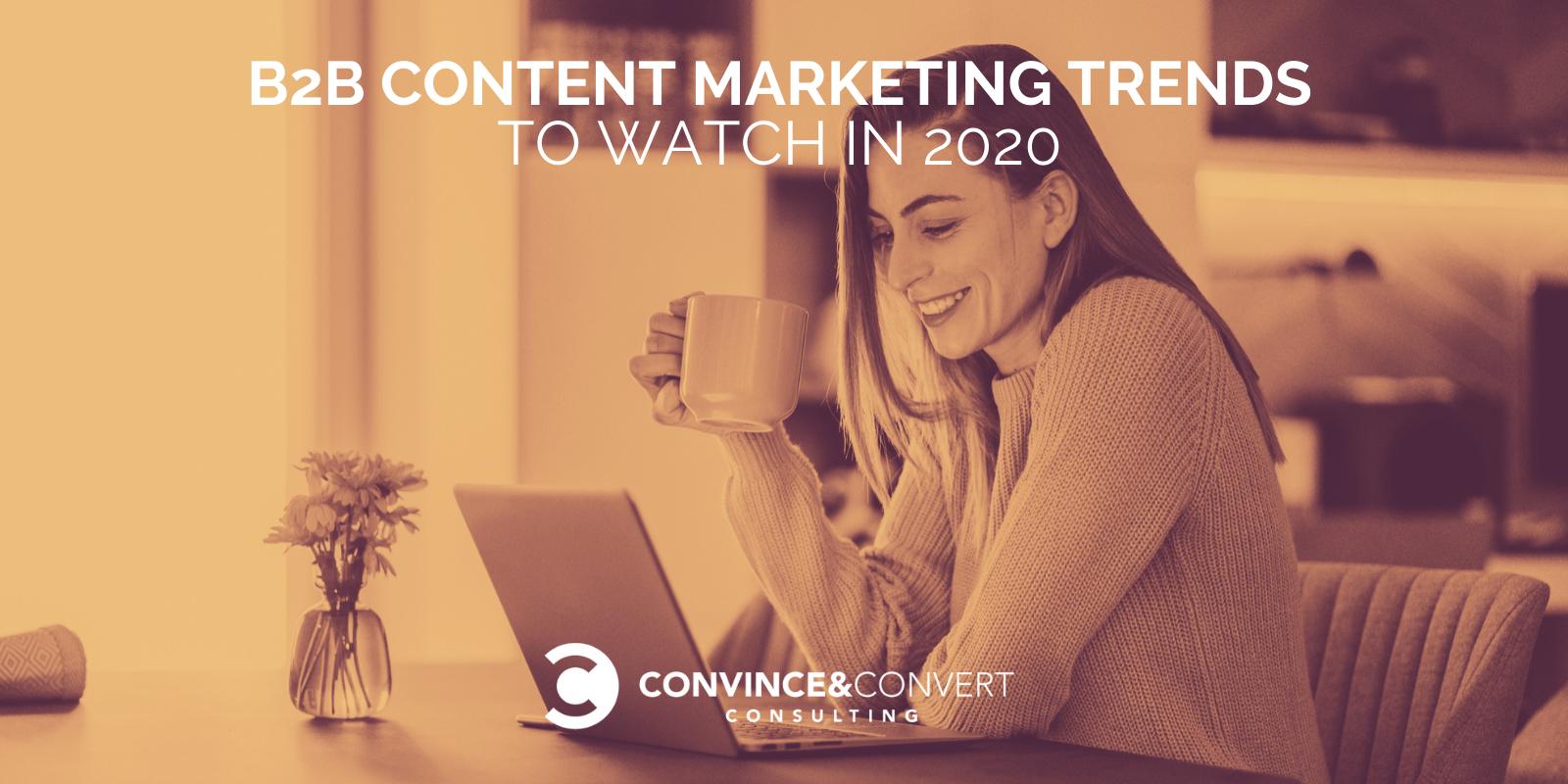 Tendenze del marketing dei contenuti B2B da tenere d'occhio nel 2020