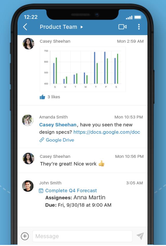 App di gestione e comunicazione del progetto Glip RingCentral