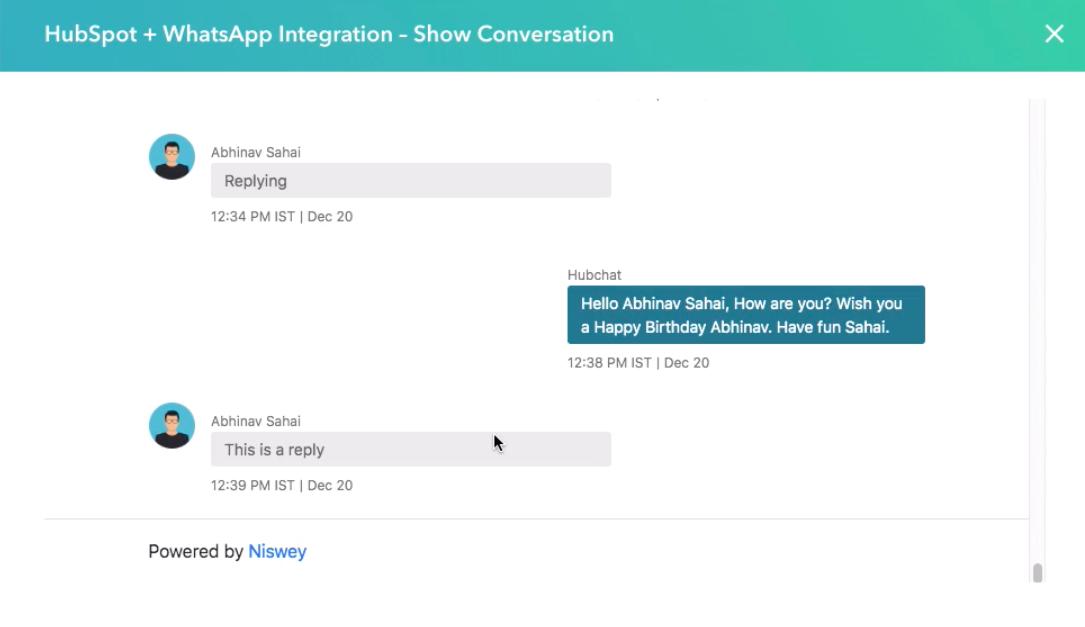 """Esempio di integrazione di WhatsApp e HubSpot. """"Style ="""" display: block; margine sinistro: auto; margine destro: auto;"""