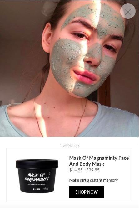 Lush Mask UGC Contenuto acquistabile