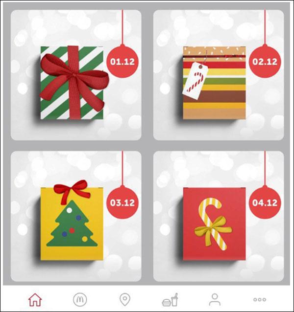 Calendario dell'avvento interattivo di McDonald