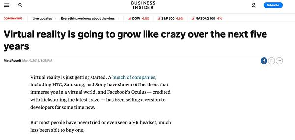 "Business Insider prevede che la realtà virtuale crescerà come un matto. ""Width ="" 600 ""style ="" width: 600px; blocco di visualizzazione; margine: 0px auto; ""srcset ="" https://blog.hubspot.com/hs-fs/hubfs/4%20Predictions%20Marketing%20Experts%20Got%20Wrong%20About%20Social%20Media%20in%202020.jpeg?width = 300 & name = 4% 20Predictions% 20Marketing% 20Experts% 20Got% 20Wrong% 20Circa% 20Social% 20Media% 20in% 202020.jpeg 300w, https://blog.hubspot.com/hs-fs/hubfs/4%20Predictions%20Marketing% 20Experts% 20Got% 20Wrong% 20Informazioni su% 20Social% 20Media% 20in% 202020.jpeg? Width = 600 & name = 4% 20Predictions% 20Marketing% 20Experts% 20Got% 20Wrong% 20Informazioni% 20Social% 20Media% 20in% 202020.jpeg 600 /blog.hubspot.com/hs-fs/hubfs/4%20Predictions%20Marketing%20Experts%20Got%20Wrong%20About%20Social%20Media%20in%202020.jpeg?width=900&name=4%20Predictions%20Marketing%20Experts%20Got % 20Wrong% 20Informazioni su% 20Social% 20Media% 20in% 202020.jpeg 900w, https://blog.hubspot.com/hs-fs/hubfs/4%20Predictions%20Marketing%20Experts%20Got%20Wrong%20About%20Social%20Media% 20in% 202020.jpeg? width = 1200 & name = 4% 20Predictions% 20Marketing% 20Experts% 20Got% 20Wrong% 20About% 20Social% 20Media% 20in% 202020 .jpeg 1200w, https://blog.hubspot.com/hs-fs/hubfs/4%20Predictions%20Marketing%20Experts%20Got%20Wrong%20About%20Social%20Media%20in%202020.jpeg?width=1500&name=4% 20Predictions% 20Marketing% 20Experts% 20Got% 20Wrong% 20About% 20Social% 20Media% 20in% 202020.jpeg 1500w, https://blog.hubspot.com/hs-fs/hubfs/4%20Predictions%20Marketing%20Experts%20Got%20W % 20Informazioni su% 20Sociale% 20Media% 20in% 202020.jpeg? Larghezza = 1800 e nome = 4% 20Prezioni% 20Marketing% 20Experts% 20Got% 20Wrong% 20Informazioni su% 20Social% 20Media% 20in% 202020.jpeg 1800w ""dimensioni ="" (larghezza massima: 600px) 100vw, 600px"