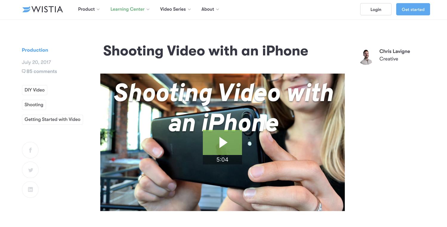 Wistia aiuta i video a creare idee creative per la generazione di lead