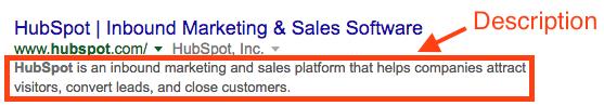 """Esempio di descrizione di un sito sulla SERP. """"width ="""" 557 """"title ="""" hubspot-homepage-descrizione """"caption ="""" false """"data-Vincolo ="""" true """"style ="""" larghezza: 557px; """"srcset ="""" https://blog.hubspot.com/hs- fs / hubfs / hubspot-homepage-descrizione.png? larghezza = 279 e nome = hubspot-homepage-descrizione.png 279 w, https://blog.hubspot.com/hs-fs/hubfs/hubspot-homepage-description.png?width = 557 e nome = hubspot-homepage-descrizione.png 557w, https://blog.hubspot.com/hs-fs/hubfs/hubspot-homepage-description.png?width=836&name=hubspot-homepage-description.png 836w, https : //blog.hubspot.com/hs-fs/hubfs/hubspot-homepage-description.png? larghezza = 1114 e nome = hubspot-homepage-descrizione.png 1114w, https://blog.hubspot.com/hs-fs/ hubfs / hubspot-homepage-descrizione.png? larghezza = 1393 e nome = hubspot-homepage-descrizione.png 1393w, https://blog.hubspot.com/hs-fs/hubfs/hubspot-homepage-description.png?width=1671&name = hubspot-homepage-descrizione.png 1671w """"dimensioni ="""" (larghezza massima: 557px) 100vw, 557px"""