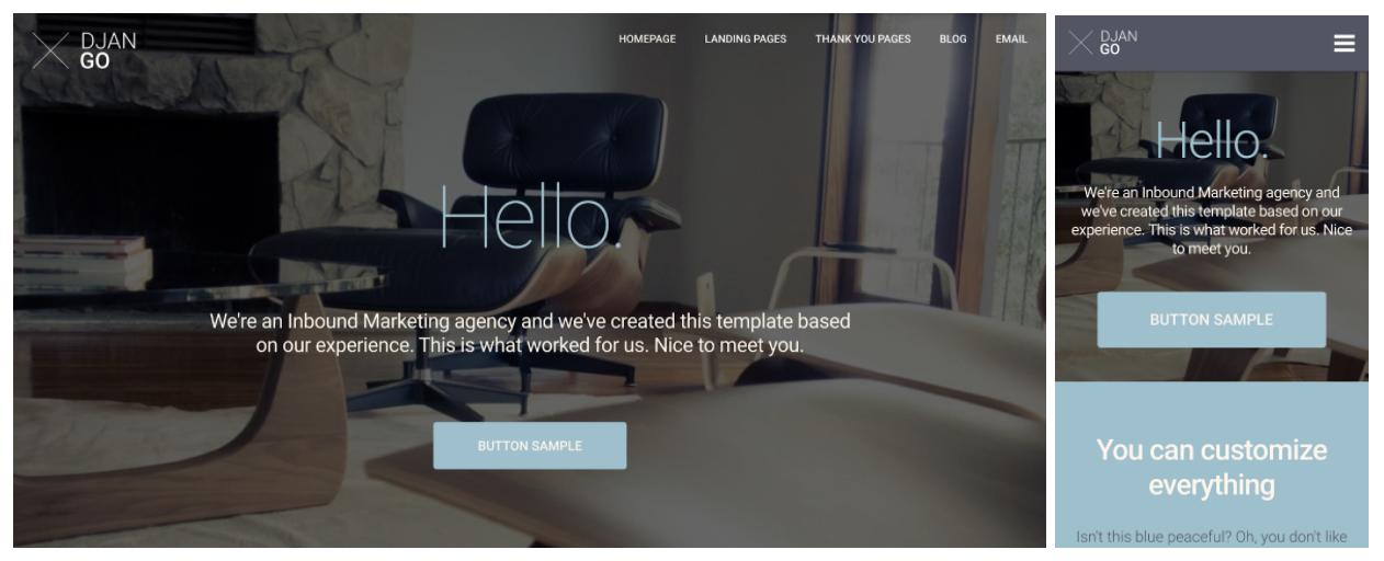 modello di web design reattivo django