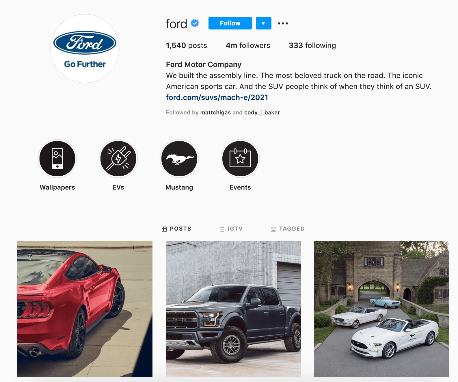 ford instagram