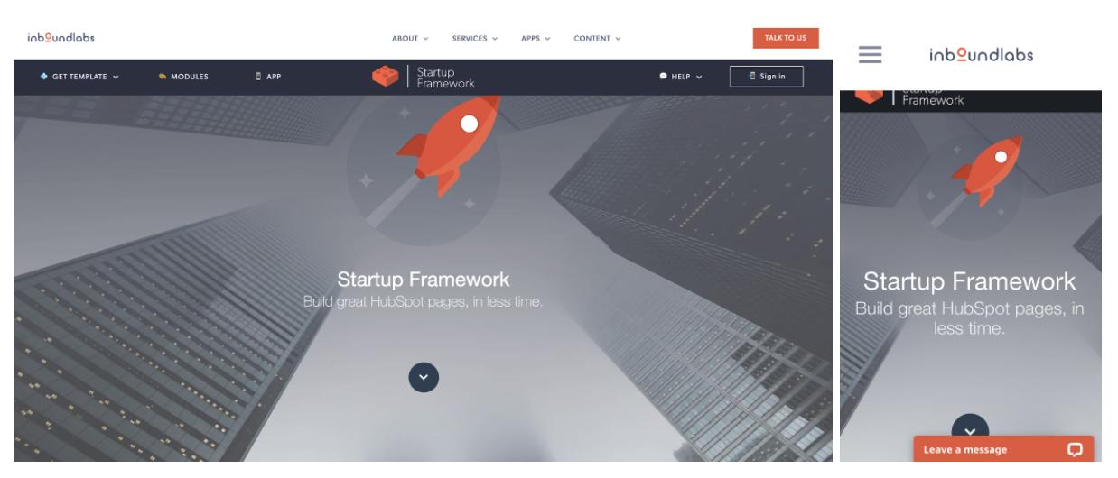 modello di progettazione web reattivo framework di avvio