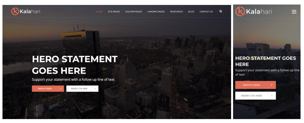 modello di web design reattivo kalahari