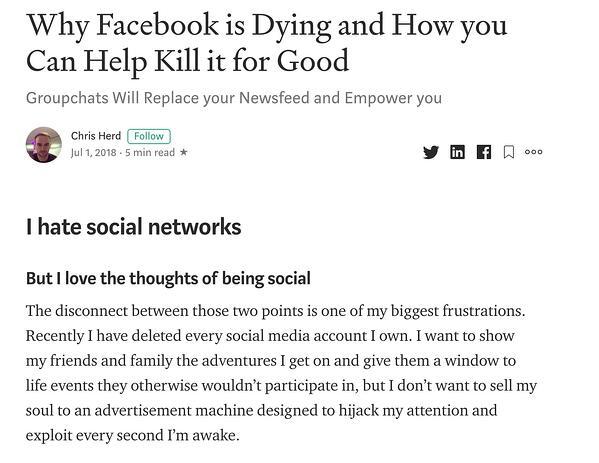 """Articolo medio sul motivo per cui Facebook sta morendo. """"Width ="""" 600 """"style ="""" larghezza: 600px; blocco di visualizzazione; margine: 0px auto; """"srcset ="""" https://blog.hubspot.com/hs-fs/hubfs/4%20Predictions%20Marketing%20Experts%20Got%20Wrong%20About%20Social%20Media%20in%202020-1.jpeg ? width = 300 & name = 4% 20Predictions% 20Marketing% 20Experts% 20Got% 20Wrong% 20Informazioni% 20Social% 20Media% 20in% 202020-1.jpeg 300w, https://blog.hubspot.com/hs-fs/hubfs/4% 20Predictions% 20Marketing% 20Experts% 20Got% 20Wrong% 20About% 20Social% 20Media% 20in% 202020-1.jpeg? width = 600 & name = 4% 20Predictions% 20Marketing% 20Experts% 20Got% 20Wrong% 20About% 20Social% 20Media% 20in% 202020- 1.jpeg 600w, https://blog.hubspot.com/hs-fs/hubfs/4%20Predictions%20Marketing%20Experts%20Got%20Wrong%20About%20Social%20Media%20in%202020-1.jpeg?width=900&name = 4% 20Predictions% 20Marketing% 20Experts% 20Got% 20Wrong% 20Informazioni su% 20Social% 20Media% 20in% 202020-1.jpeg 900w, https://blog.hubspot.com/hs-fs/hubfs/4%20Predictions%20Marketing% 20Experts% 20Got% 20Wrong% 20About% 20Social% 20Media% 20in% 202020-1.jpeg? width = 1200 & name = 4% 20Predictions% 20Marketing% 20Experts% 20Got% 20Wrong% 20About% 20Social% 20Med ia% 20in% 202020-1.jpeg 1200w, https://blog.hubspot.com/hs-fs/hubfs/4%20Predictions%20Marketing%20Experts%20Got%20Wrong%20About%20Social%20Media%20in%202020-1 .jpeg? width = 1500 & name = 4% 20Predictions% 20Marketing% 20Experts% 20Got% 20Wrong% 20About% 20Social% 20Media% 20in% 202020-1.jpeg 1500w, https://blog.hubspot.com/hs-fs/hubfs/ 4% 20Predictions% 20Marketing% 20Experts% 20Got% 20Wrong% 20About% 20Social% 20Media% 20in% 202020-1.jpeg? width = 1800 & name = 4% 20Predictions% 20Marketing% 20Experts% 20Got% 20Wrong% 20About% 20Social% 20Media% 20in% 202020-1.jpeg 1800w """"dimensioni ="""" (larghezza massima: 600px) 100vw, 600px"""