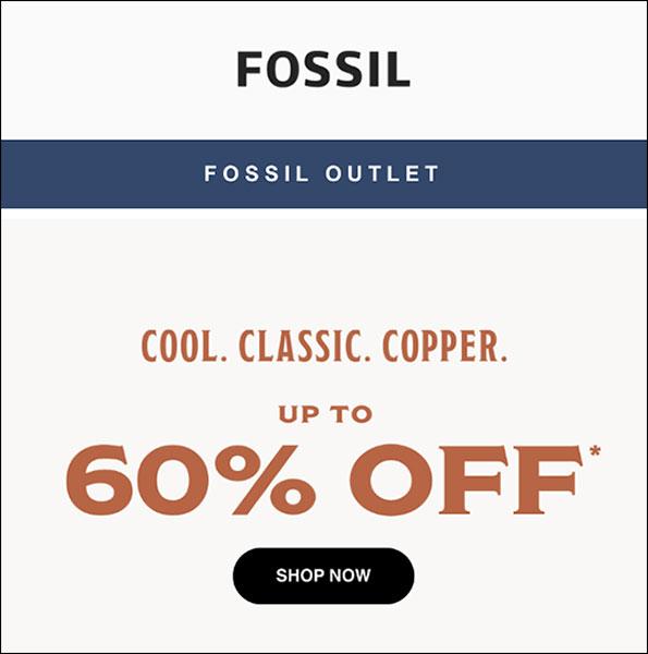 Esempio di e-mail di trasmissione fossile