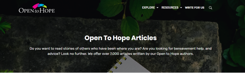 Apri la pagina degli articoli di Hope