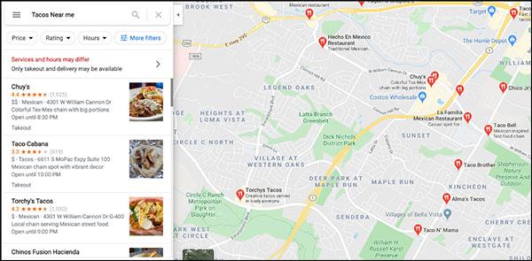risultati seo google maps