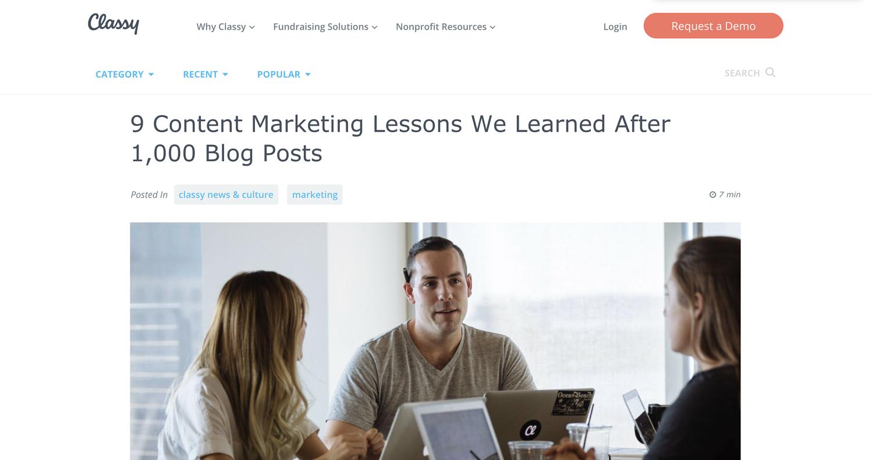 Post sul blog di idee per la generazione di lead creativi
