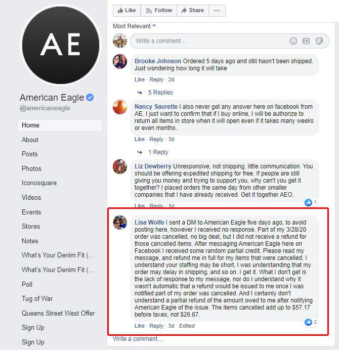 Gestione della reputazione online AE ad es
