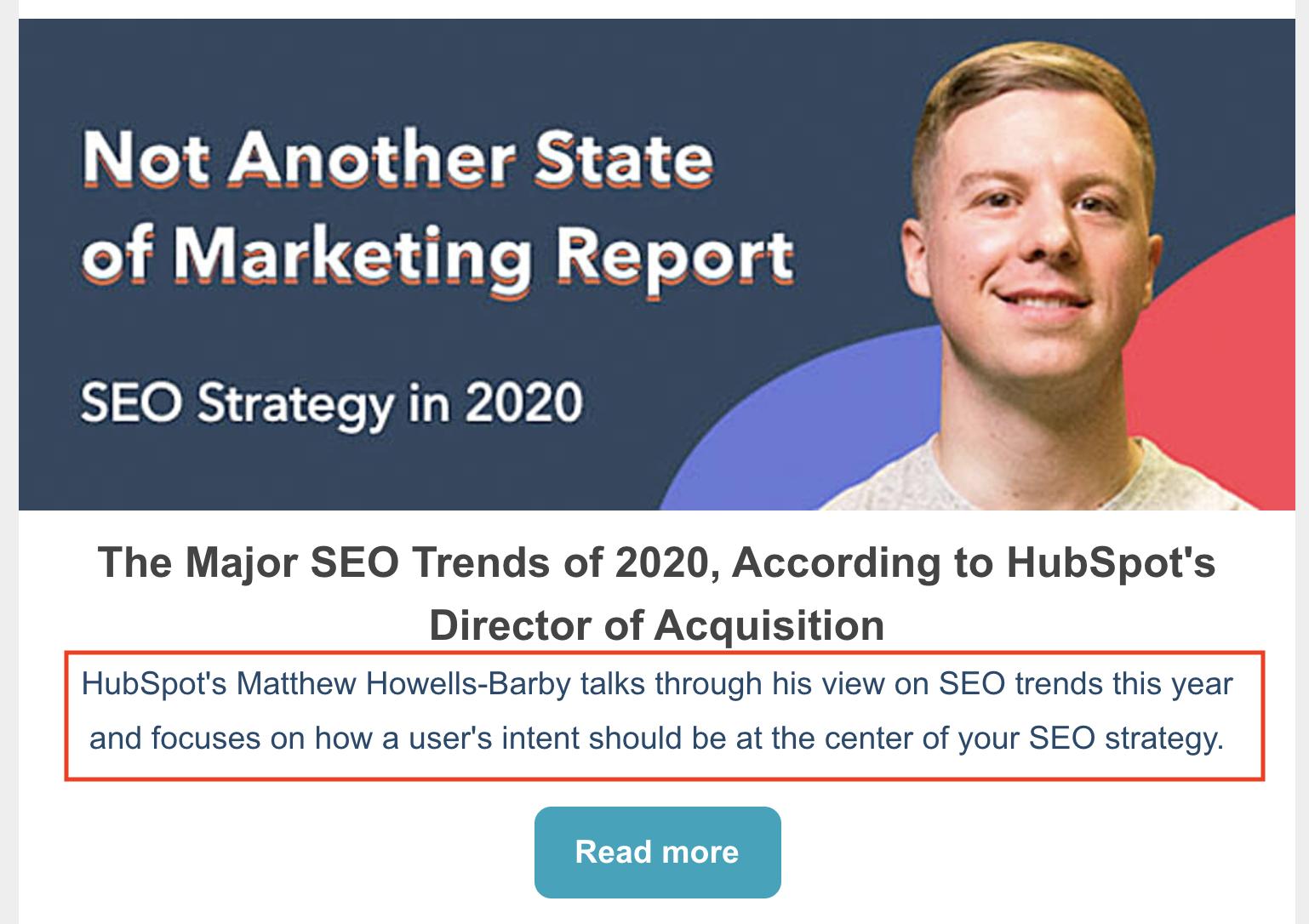meta descrizione del rapporto sullo stato del marketing