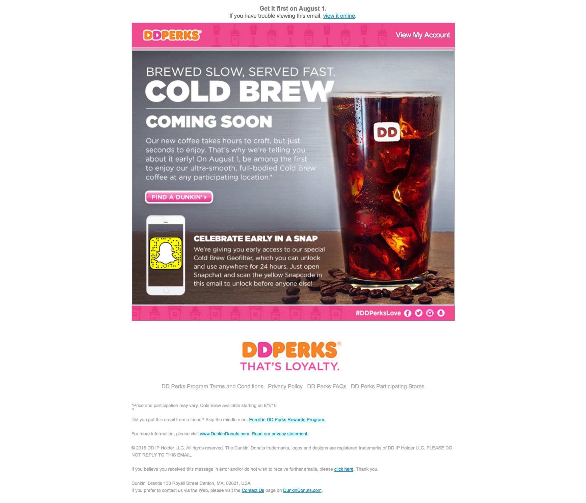 DDPerks Email: esempio di nutrimento per i lead