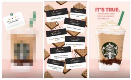 Storia di Starbucks instagram intersattiva