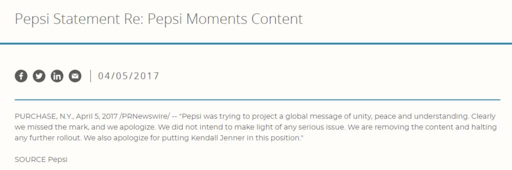 Pepsi 2017 scuse