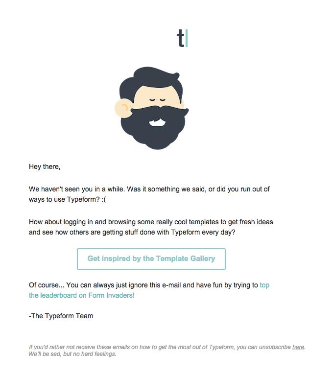 Esempio di form di email lead lead