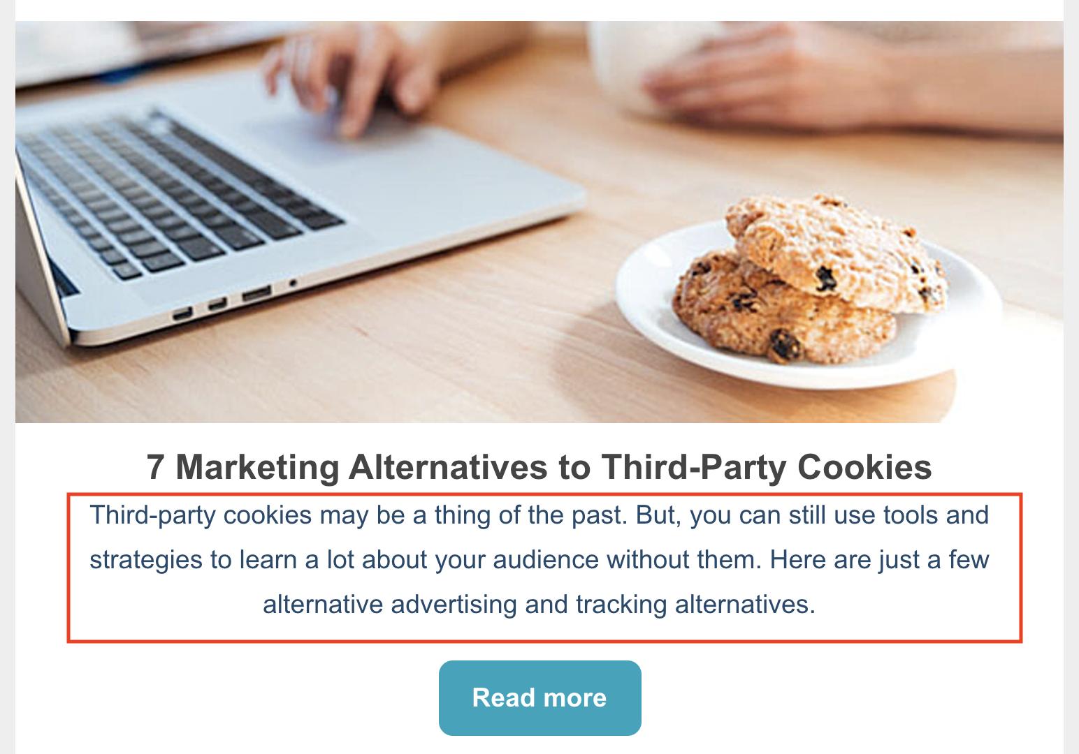 meta descrizione cookie di terze parti