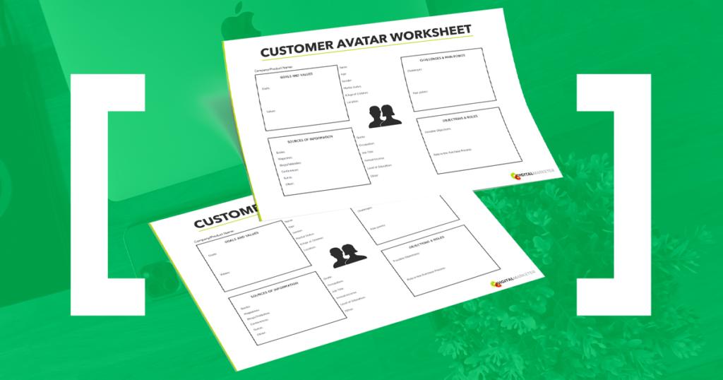 Dai un'occhiata al nostro foglio di lavoro Avatar cliente!