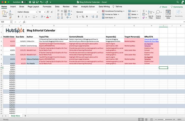 Foglio Excel con i duplicati evidenziati.