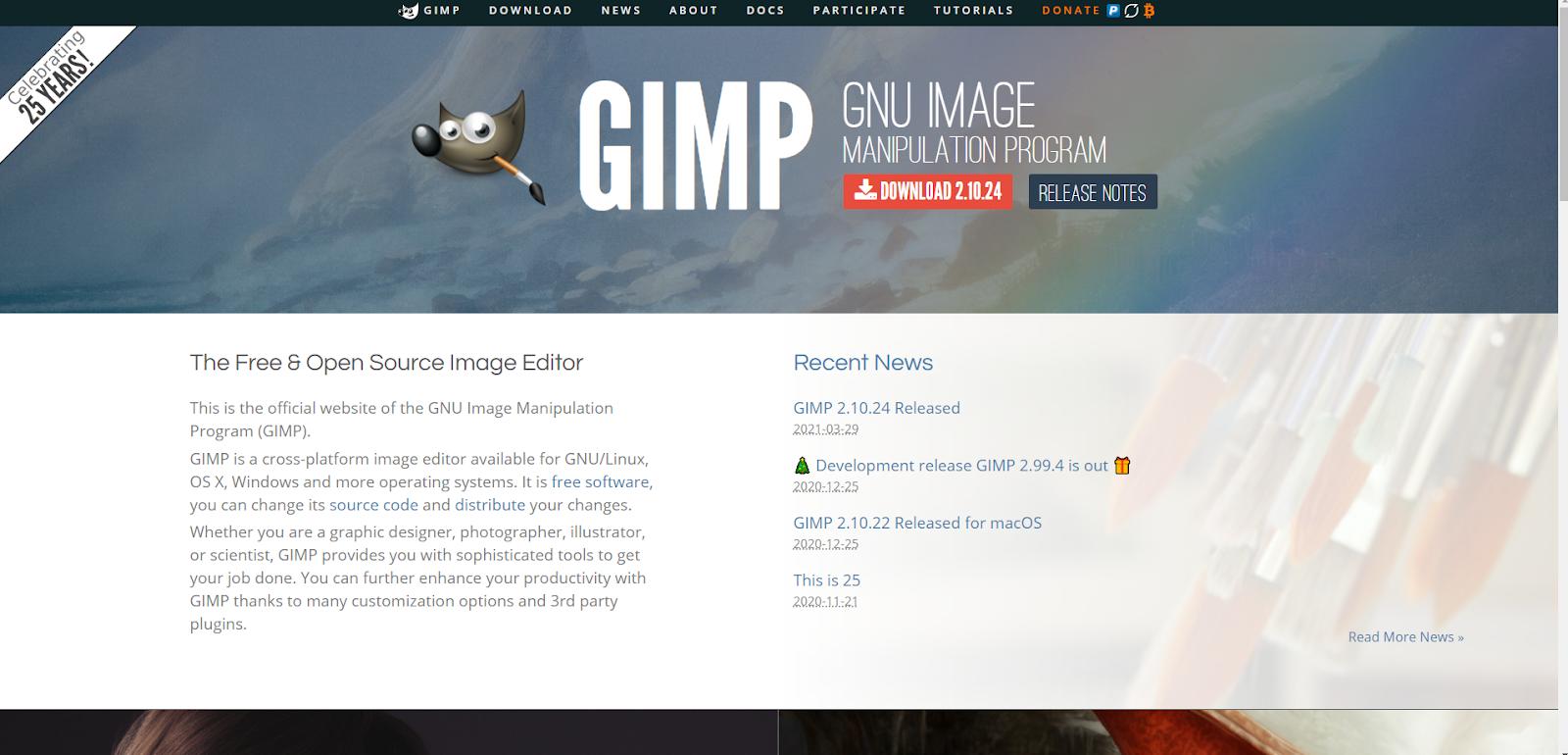 Software di progettazione grafica gratuito Gimp