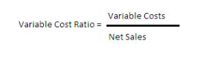 Formula del rapporto di costo variabile