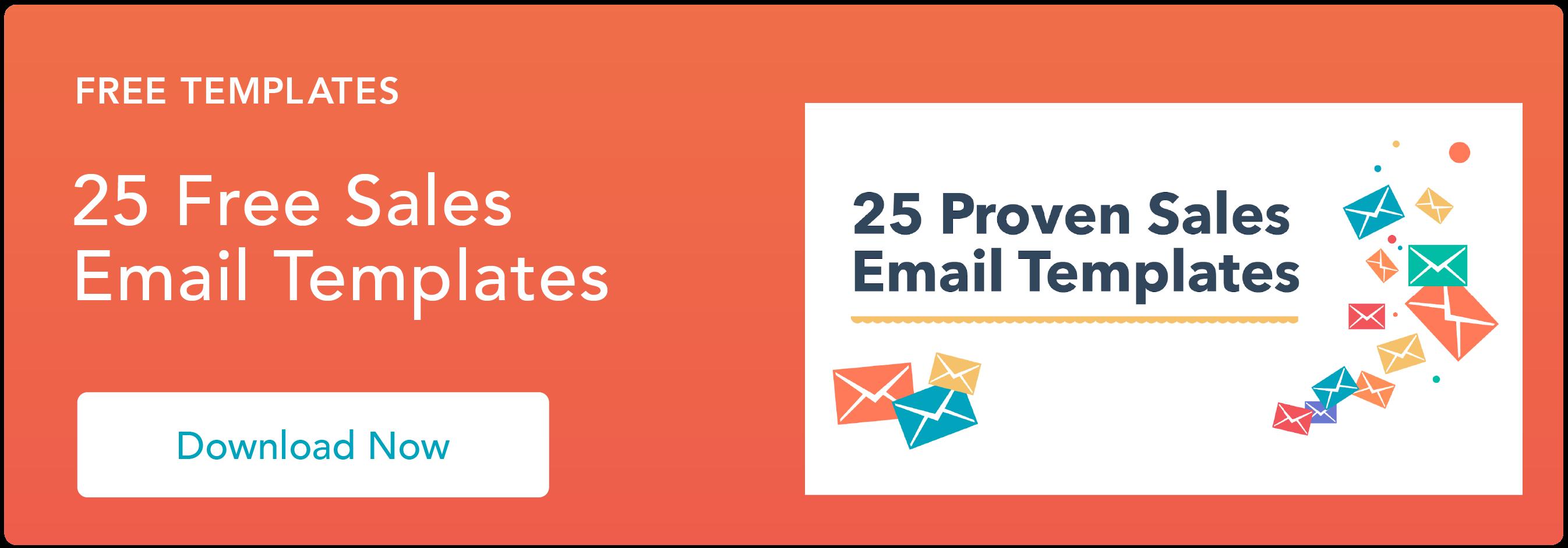 modelli di email di vendita