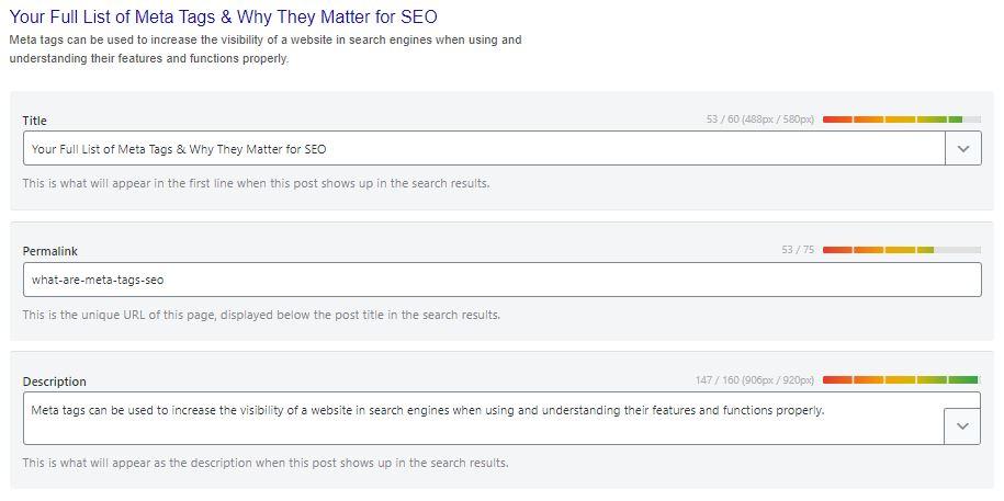 un plugin seo per aiutarti a creare meta descrizioni