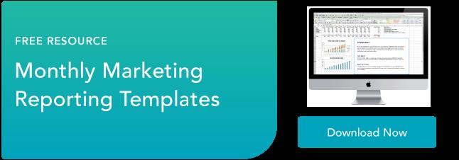 modelli di report di marketing