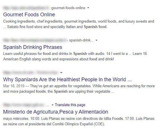 un esempio di keyword stuffing nelle meta descrizioni