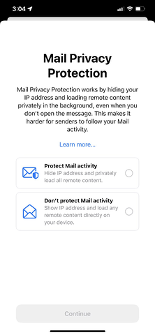 pagina di autorizzazione e-mail di apple ios