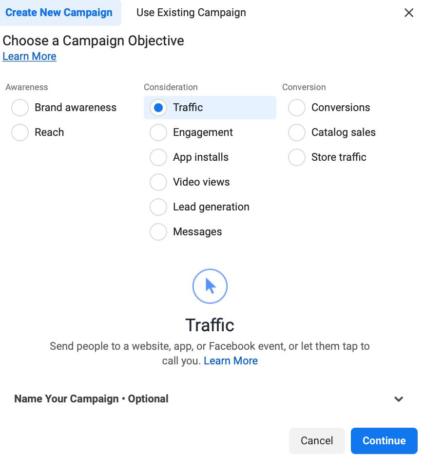 Come creare l'obiettivo di Instagram Explore Ads