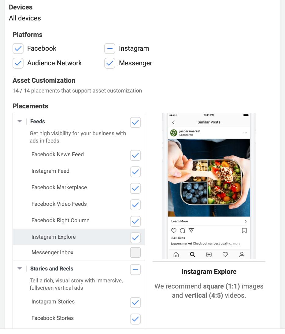 Instagram esplora le opzioni di posizionamento degli annunci