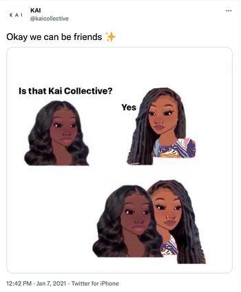 esempio di meme marketing di Kai Collective