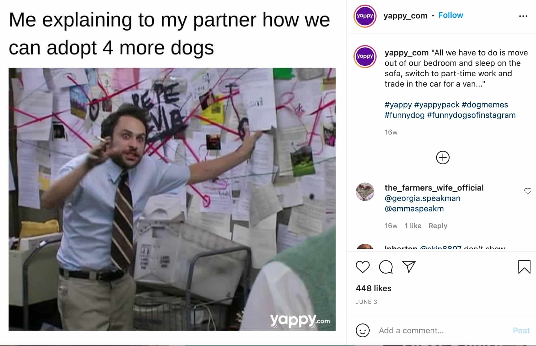 esempio di meme marketing di Yappy