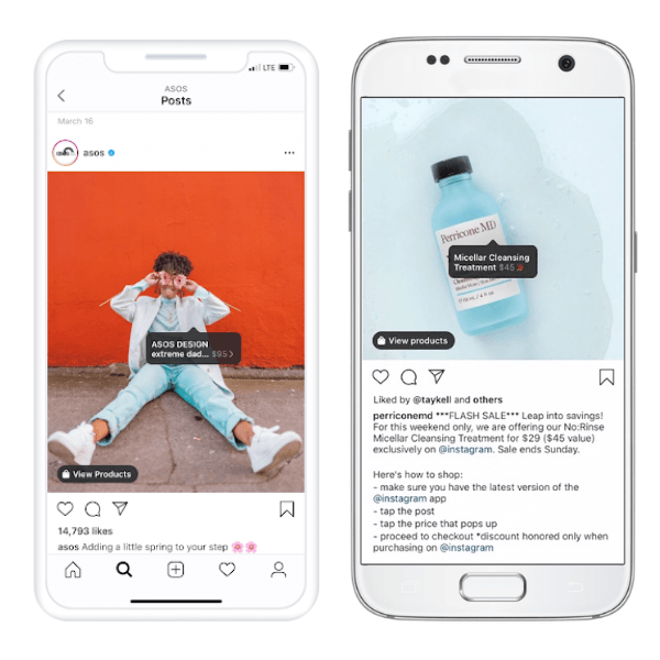 Tag per lo shopping su Instagram