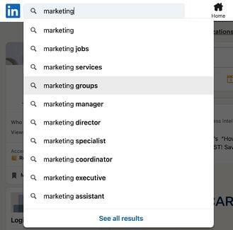Come trovare gruppi su LinkedIn passaggio 1